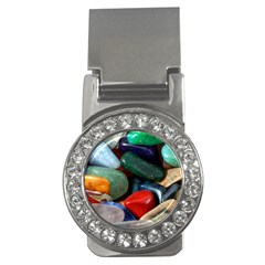Stones Colors Pattern Pebbles Macro Rocks Money Clips (CZ)