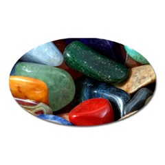 Stones Colors Pattern Pebbles Macro Rocks Oval Magnet
