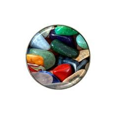 Stones Colors Pattern Pebbles Macro Rocks Hat Clip Ball Marker (4 pack)
