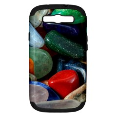 Stones Colors Pattern Pebbles Macro Rocks Samsung Galaxy S III Hardshell Case (PC+Silicone)