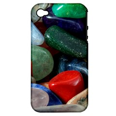 Stones Colors Pattern Pebbles Macro Rocks Apple iPhone 4/4S Hardshell Case (PC+Silicone)