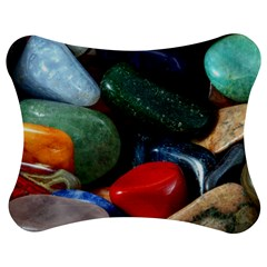 Stones Colors Pattern Pebbles Macro Rocks Jigsaw Puzzle Photo Stand (Bow)