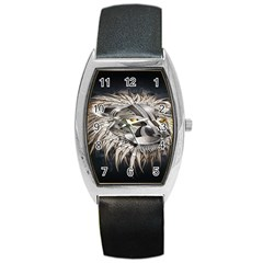 Lion Robot Barrel Style Metal Watch