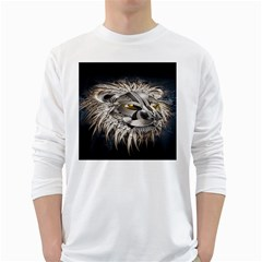 Lion Robot White Long Sleeve T-Shirts