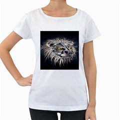 Lion Robot Women s Loose-Fit T-Shirt (White)