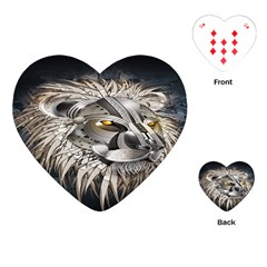 Lion Robot Playing Cards (Heart)