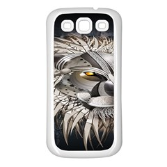Lion Robot Samsung Galaxy S3 Back Case (White)