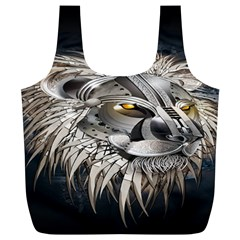 Lion Robot Full Print Recycle Bags (L)