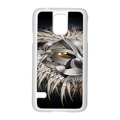 Lion Robot Samsung Galaxy S5 Case (White)