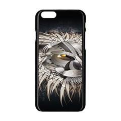Lion Robot Apple iPhone 6/6S Black Enamel Case