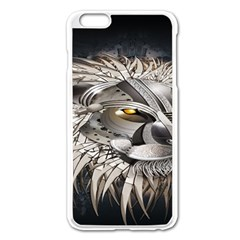 Lion Robot Apple iPhone 6 Plus/6S Plus Enamel White Case