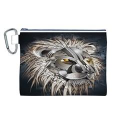 Lion Robot Canvas Cosmetic Bag (L)