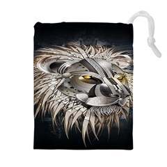 Lion Robot Drawstring Pouches (Extra Large)