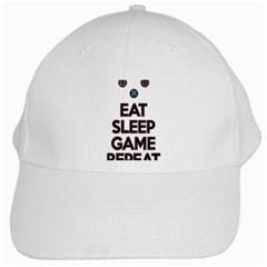 Eat sleep game repeat White Cap