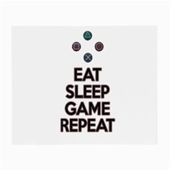 Eat sleep game repeat Small Glasses Cloth (2-Side)