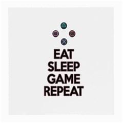 Eat sleep game repeat Medium Glasses Cloth