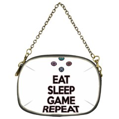Eat sleep game repeat Chain Purses (One Side)