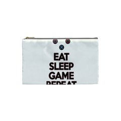 Eat sleep game repeat Cosmetic Bag (Small)