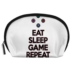 Eat sleep game repeat Accessory Pouches (Large)