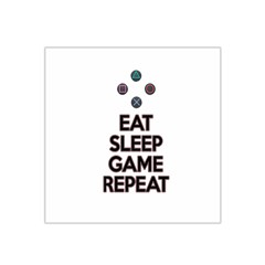 Eat sleep game repeat Satin Bandana Scarf
