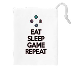 Eat Sleep Game Repeat Drawstring Pouches (xxl)