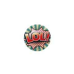Lol Comic Speech Bubble Vector Illustration 1  Mini Magnets