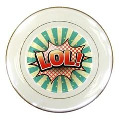 Lol Comic Speech Bubble Vector Illustration Porcelain Plates