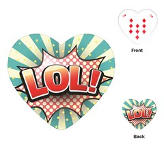 Lol Comic Speech Bubble Vector Illustration Playing Cards (Heart)