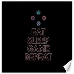 Eat sleep game repeat Canvas 20  x 20
