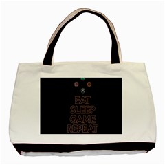 Eat sleep game repeat Basic Tote Bag (Two Sides)