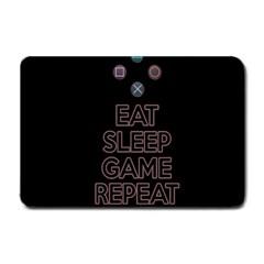 Eat sleep game repeat Small Doormat