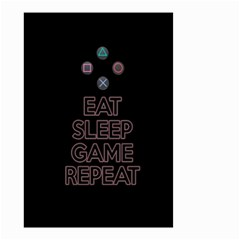Eat sleep game repeat Small Garden Flag (Two Sides)