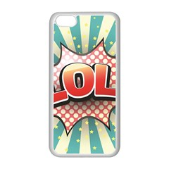 Lol Comic Speech Bubble Vector Illustration Apple iPhone 5C Seamless Case (White)