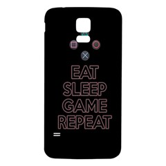 Eat sleep game repeat Samsung Galaxy S5 Back Case (White)