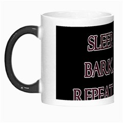 Eat, sleep, bark, repeat pug Morph Mugs