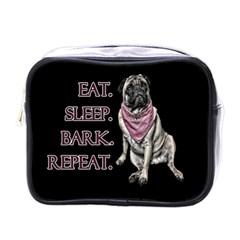 Eat, sleep, bark, repeat pug Mini Toiletries Bags
