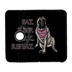 Eat, sleep, bark, repeat pug Galaxy S3 (Flip/Folio)