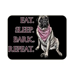 Eat, sleep, bark, repeat pug Double Sided Flano Blanket (Mini)