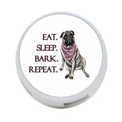 Eat, sleep, bark, repeat pug 4-Port USB Hub (One Side)