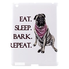 Eat, sleep, bark, repeat pug Apple iPad 3/4 Hardshell Case (Compatible with Smart Cover)