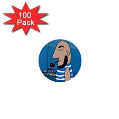 Sailor 1  Mini Buttons (100 pack)