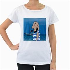 Sailor Women s Loose-Fit T-Shirt (White)