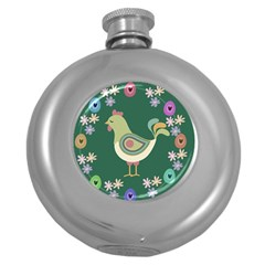 Easter Round Hip Flask (5 oz)