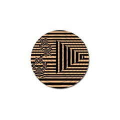 Wooden Pause Play Paws Abstract Oparton Line Roulette Spin Golf Ball Marker