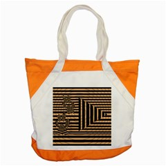 Wooden Pause Play Paws Abstract Oparton Line Roulette Spin Accent Tote Bag