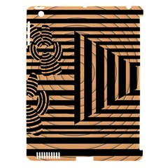 Wooden Pause Play Paws Abstract Oparton Line Roulette Spin Apple iPad 3/4 Hardshell Case (Compatible with Smart Cover)