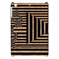 Wooden Pause Play Paws Abstract Oparton Line Roulette Spin Apple iPad Mini Hardshell Case