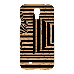 Wooden Pause Play Paws Abstract Oparton Line Roulette Spin Samsung Galaxy S4 I9500/I9505 Hardshell Case