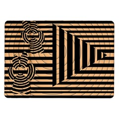 Wooden Pause Play Paws Abstract Oparton Line Roulette Spin Samsung Galaxy Tab 10.1  P7500 Flip Case