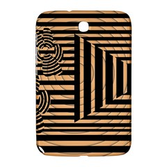 Wooden Pause Play Paws Abstract Oparton Line Roulette Spin Samsung Galaxy Note 8.0 N5100 Hardshell Case